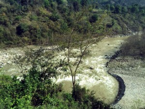 One of Nepal's many glacial rivers.