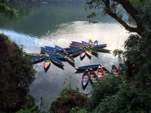 Boats for rent on Lake Fewa.
